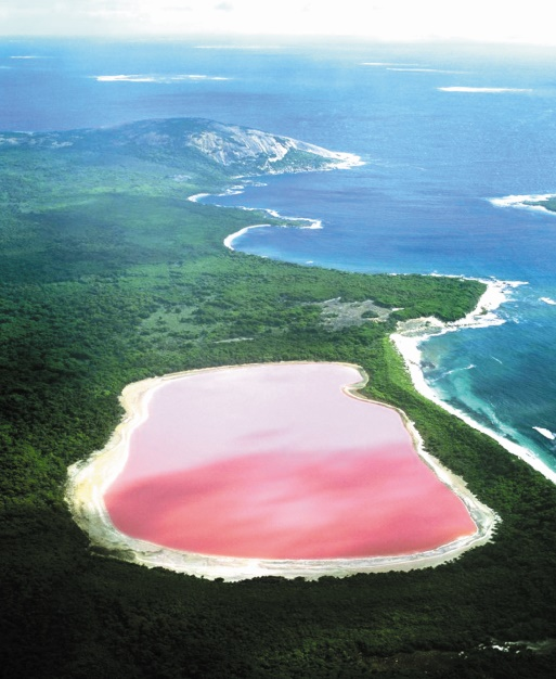 Les destinations les plus spectaculaires du monde : Le Lac Hillier - Australie-Occidentale