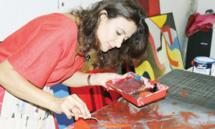 Mounia Boutaleb : Un tableau doit  représenter une  émotion née de  la vie