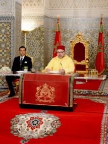 S.M Mohammed VI dans le discours du Trône Je suis le Roi de toutes les formations  politiques, sans discrimination ou exclusion