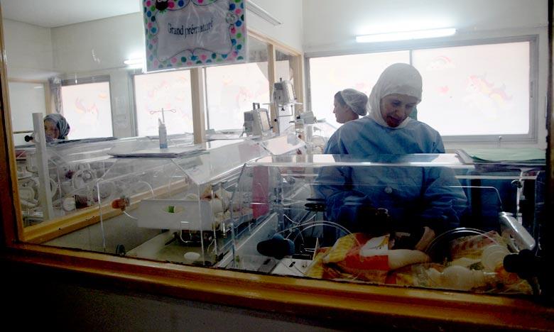 Des quadruplés prématurés pris en charge par l'Hôpital d'enfants de Rabat relevant du CHU Ibn Sina