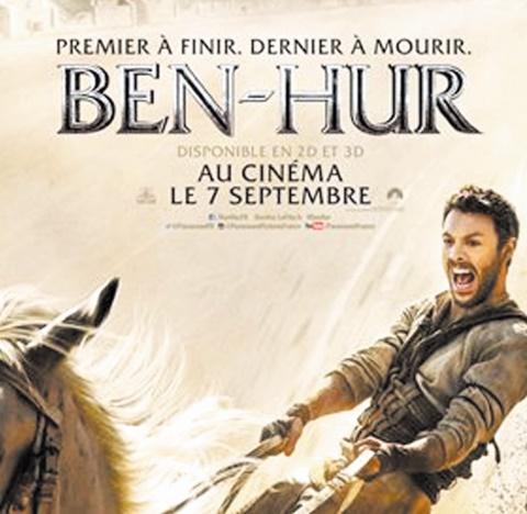 """Le nouveau """"Ben-Hur"""", pari risqué des studios Paramount, déboule au cinéma"""