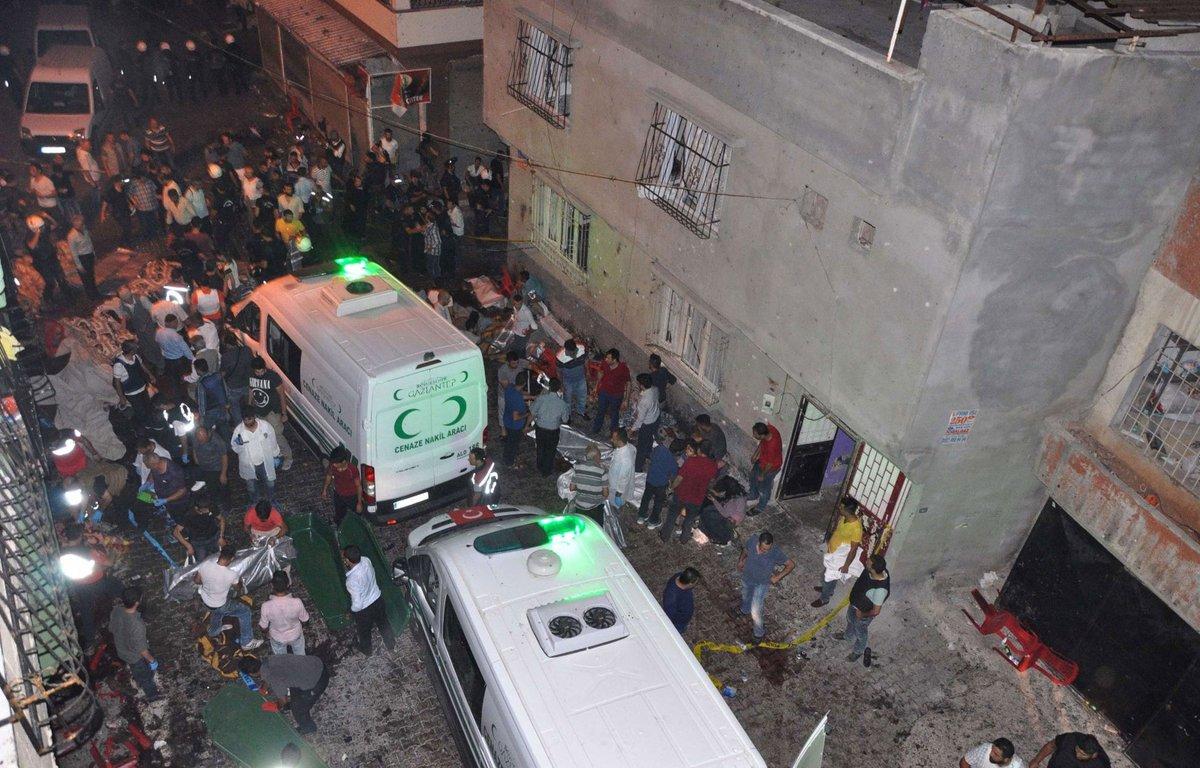 Une cinquantaine de morts dans un attentat contre un mariage en Turquie
