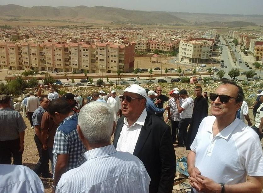 Driss Lachguar et Habib El Malki lors des funérailles du grand militant que fut Driss Mohamed Bouizgar.