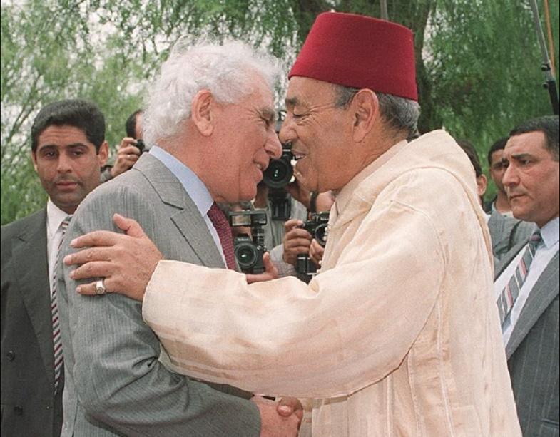 Rencontre entre Feu Hassan II et Feu Chadli Benjdid le 27 mai 1991 à Oran.