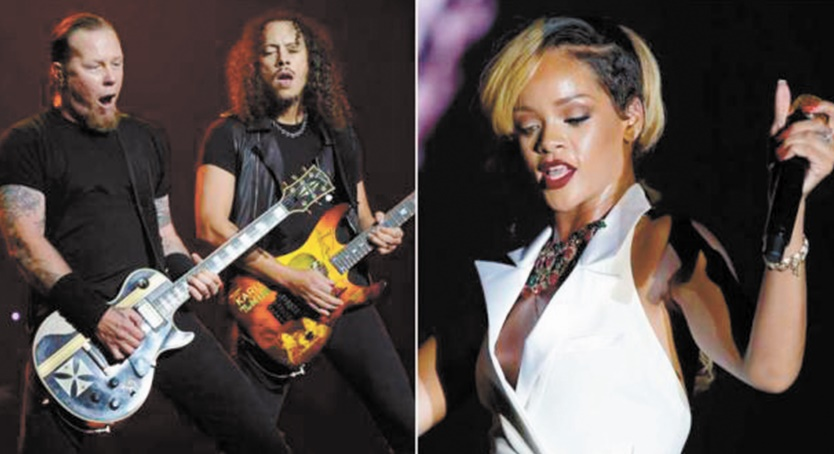 Metallica, Rihanna et d'autres célébrités chantent à New York en soutien aux réfugiés