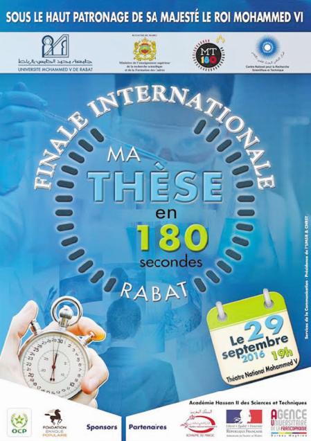 "Vingt candidats issus de dix pays en finale de ""Ma thèse en 180 secondes"""