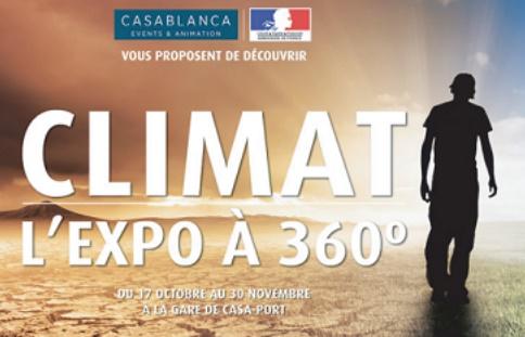 Sensibilisation sur l'impact du réchauffement climatique à la gare de Casa-Port