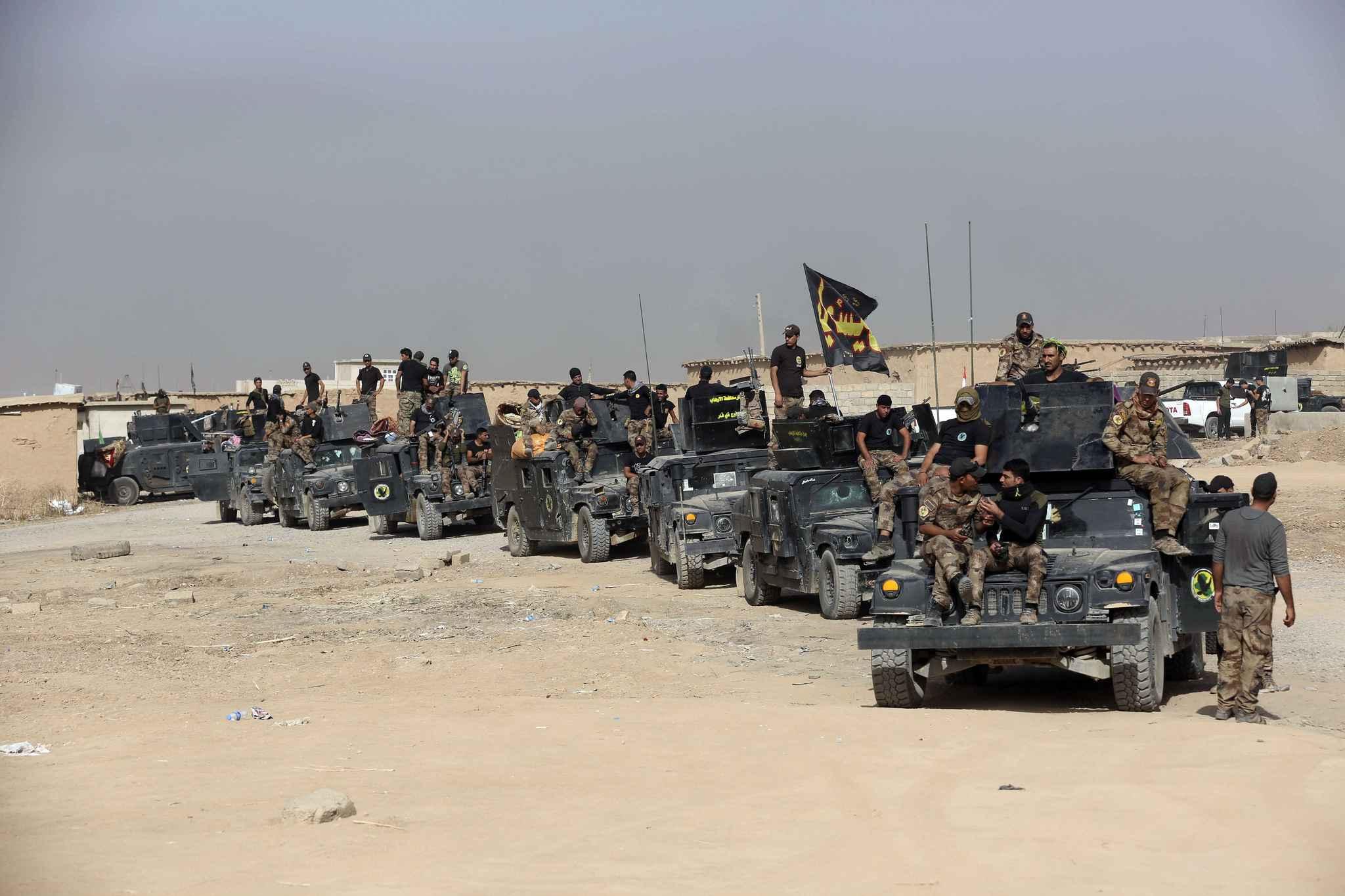 Les soldats irakiens aux portes de Mossoul
