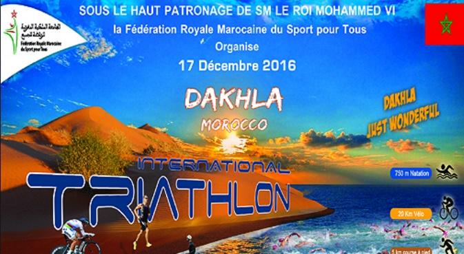 Une vingtaine de pays participent au Triathlon international de Dakhla