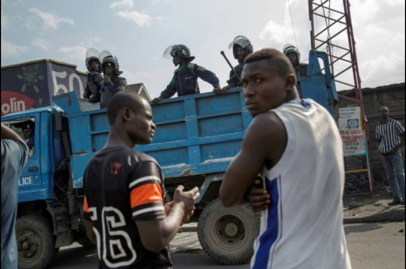 Tirs nourris d'armes à feu à Lubumbashi