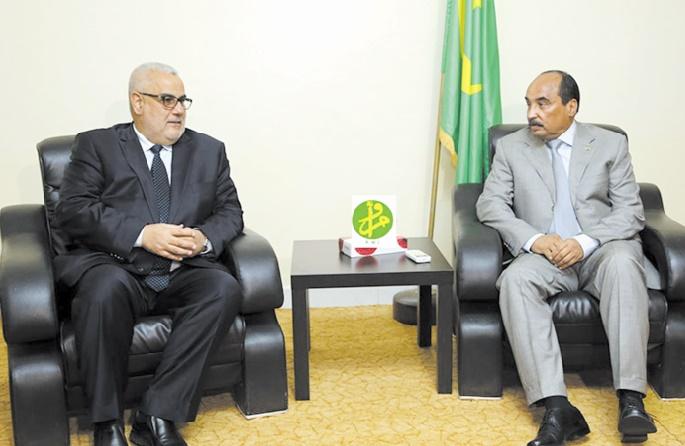 Le Président mauritanien reçoit Abdelilah Benkirane à Zouerate