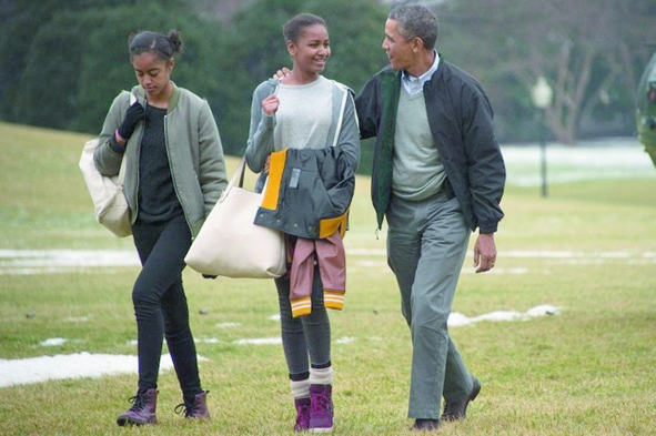 Insolite : Les balançoires des filles d'Obama