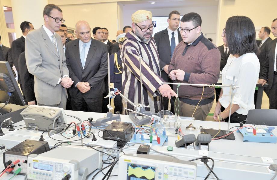 """SM le Roi inaugure la plateforme internationale """"Green Energy Park"""" et l'Université Mohammed VI Polytechnique à la ville verte de Benguerir"""
