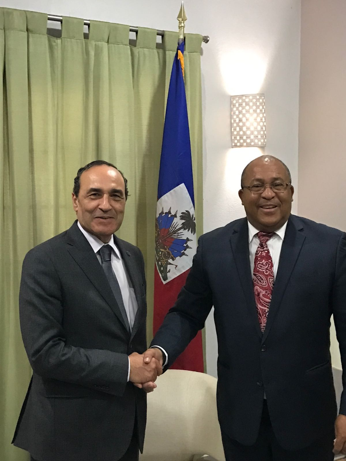 Habib El Malki rencontre le président du Parlement et le ministre des A.E haïtiens