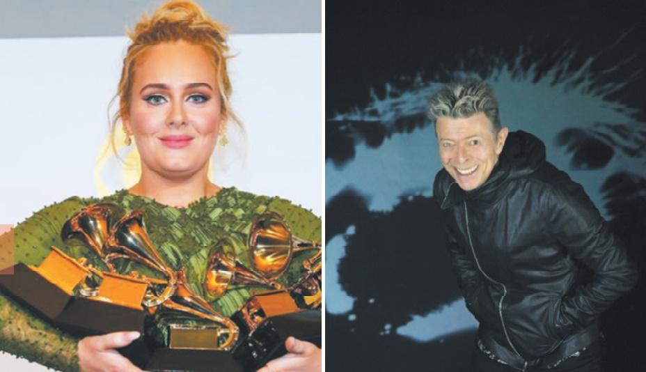 Le triomphe d'Adele et la consécration posthume de David Bowie aux Grammys Awards