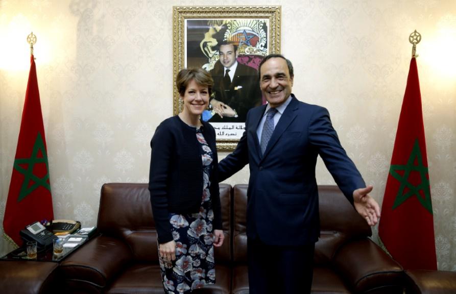 Habib El Malki et Karen Betts.
