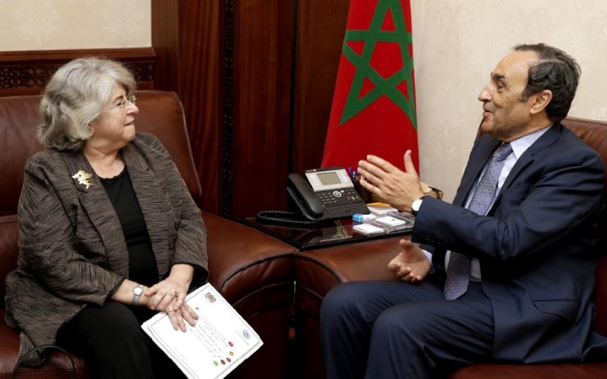 Le président de la Chambre des représentants et l'ambassadrice du Portugal.