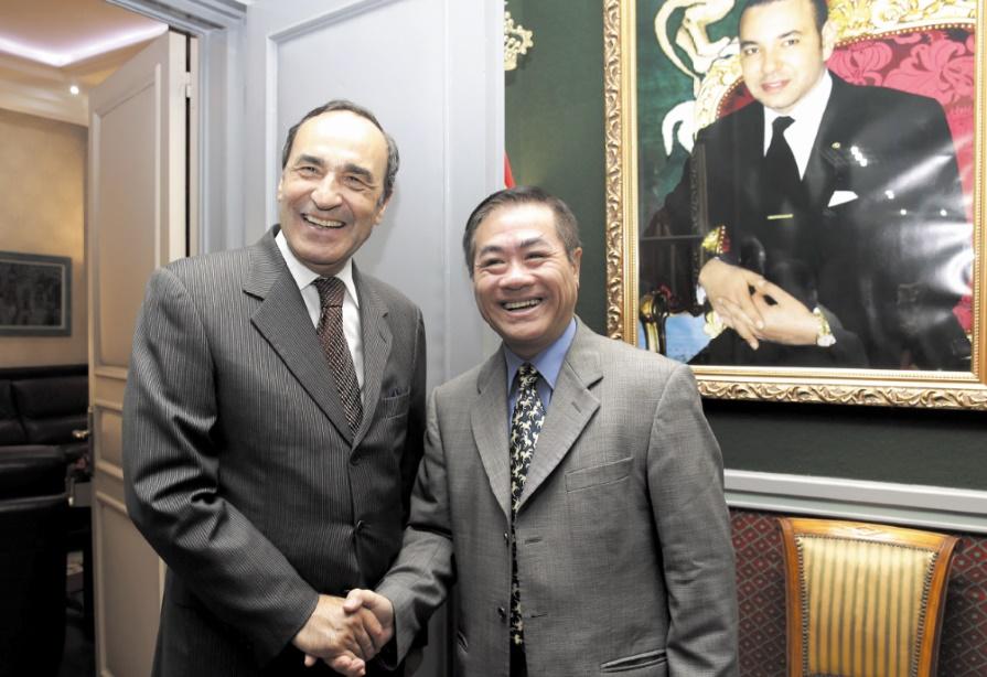 Habib El Malki et l'ambassadeur du Vietnam au Maroc.
