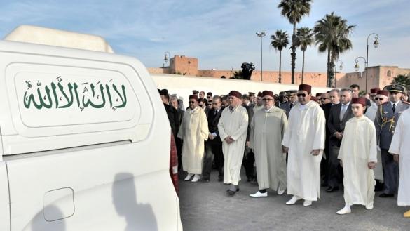 Emouvantes funérailles de M'hamed Boucetta à Marrakech