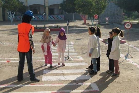 Sensibilisation à la sécurité routière dans les établissements scolaires de Marrakech