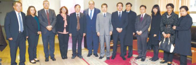 Driss Lachguar reçoit une délégation du PC chinois