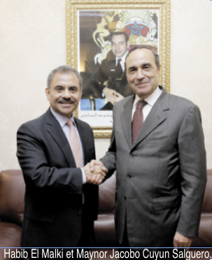 Habib El Malki s'entretient avec les  ambassadeurs du Guatemala et de la Jordanie