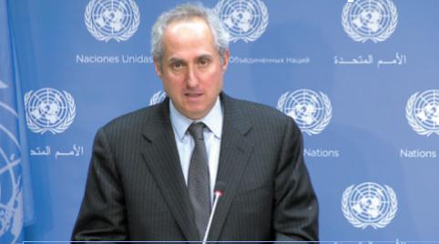 Stéphane Dujarric, porte-parole du Secrétaire général.                 Ph. ONU