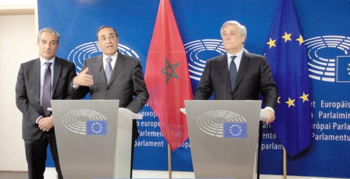 """Résultat de recherche d'images pour """"Habib El Malki et Antonio Tajani"""""""