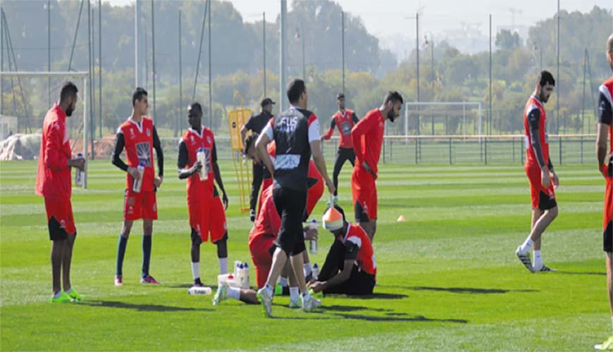 Dernière séance d'entrainement du FUS avant le départ pour Tunis.      Ph.fus.ma
