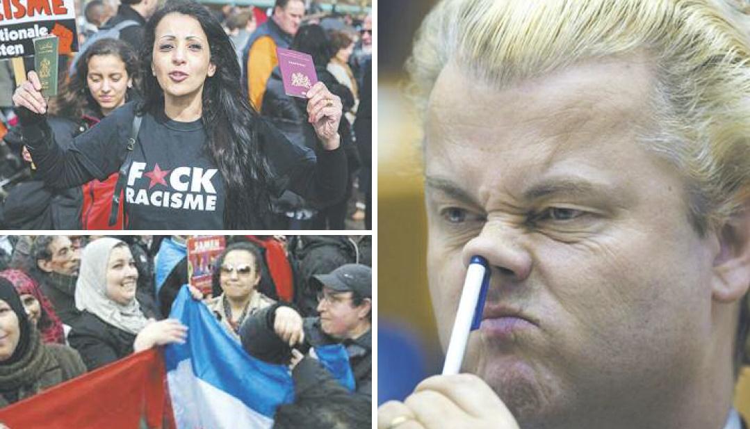A la veille des élections en Hollande, la communauté marocaine outrée par le discours raciste de Geert Wilders and Co : Bas les pattes !