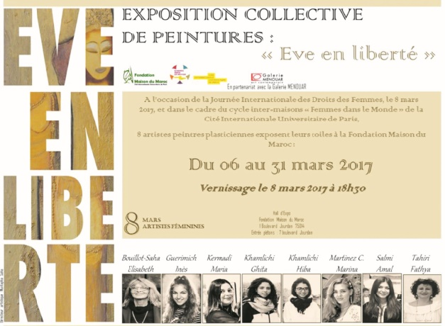 """Franc succès de l'exposition """"Eve en liberté"""" à la Fondation Maison du Maroc à Paris"""