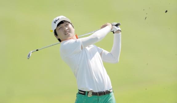 Le Sud-Coréen Jeunghun Wang, tenant du titre.