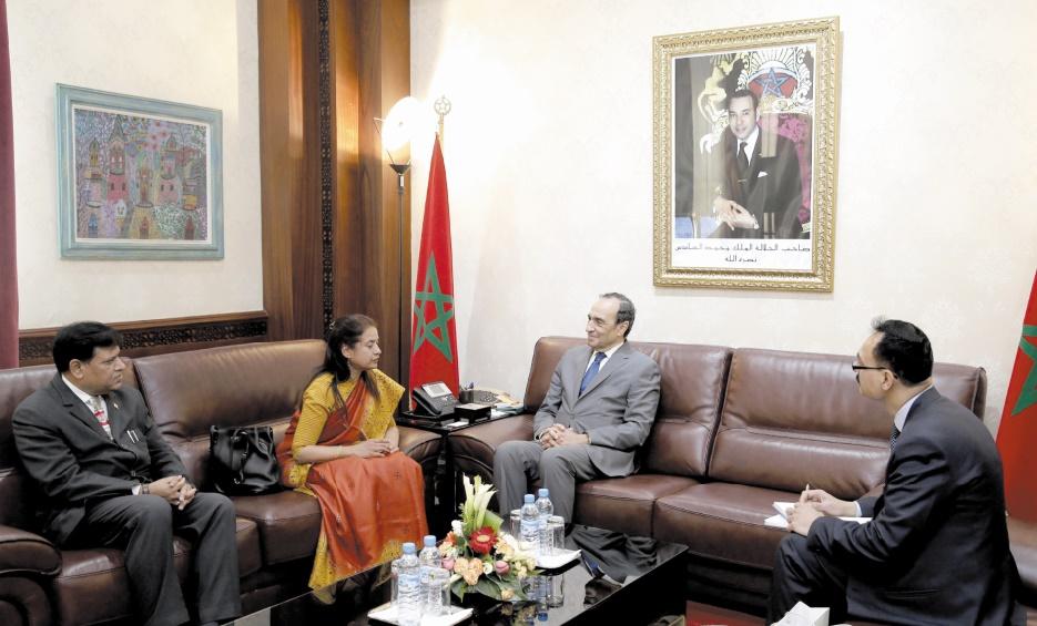Le président de la Chambre des représentants s'entretient avec l'ambassadeur de l'Inde à Rabat