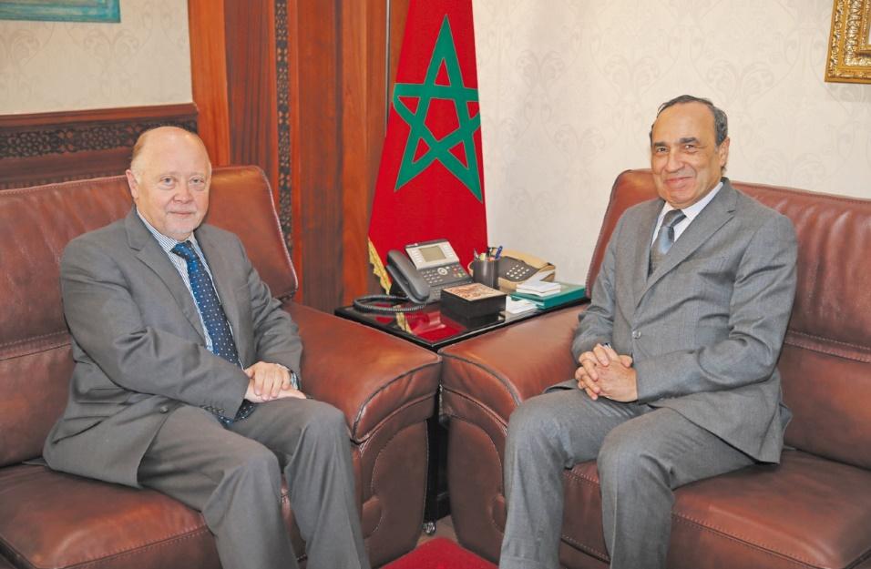 Le président de la Chambre des représentants s'entretient avec l'ambassadeur du Chili au Maroc