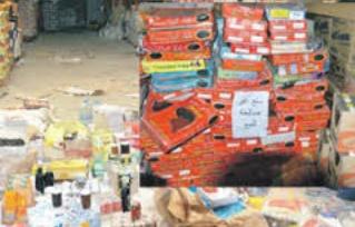 Saisie et destruction de 478 tonnes de produits impropres à la consommation en mars