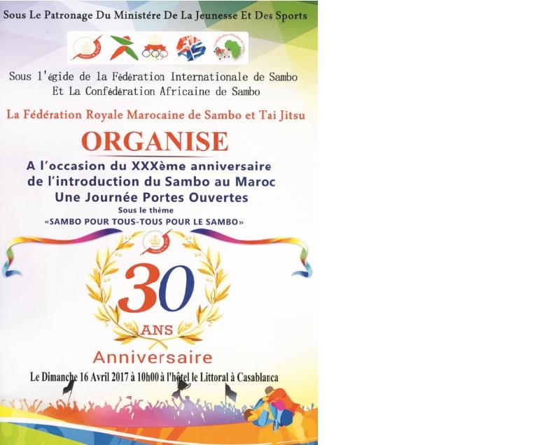 30ème anniversaire de l'introduction du sambo au Maroc