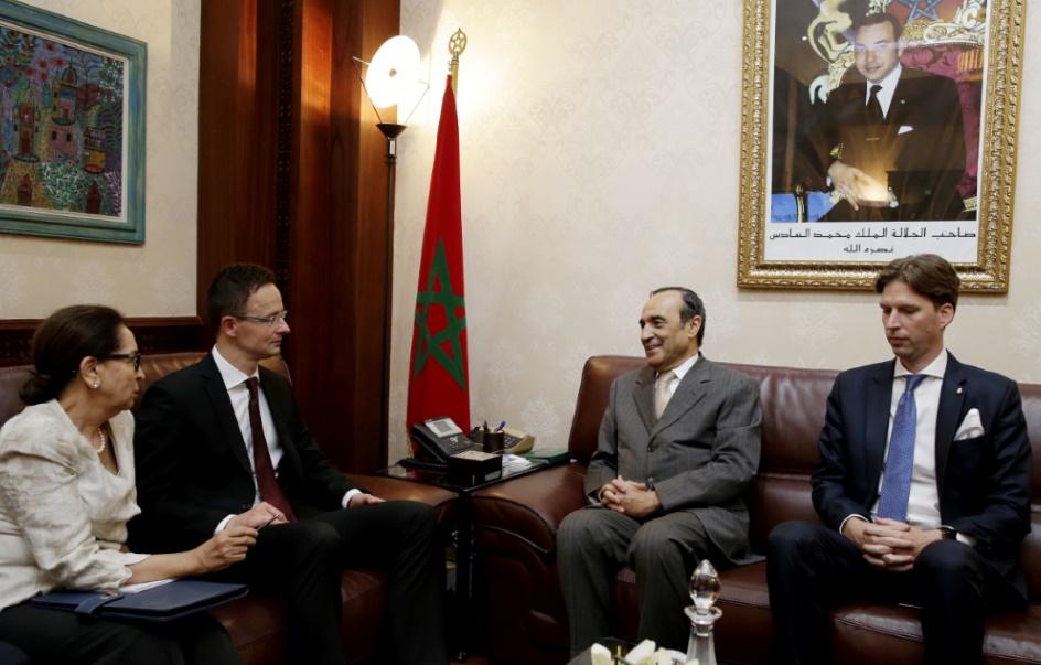 Réunion prochaine du groupe d'amitié parlementaire maroco-hongrois : Entretien à Rabat entre Habib El Malki  et Péter Szijjártó