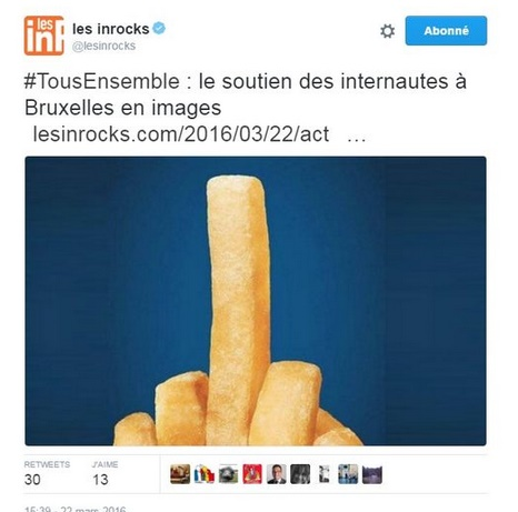 Insolite : La frite emblème d'une campagne nationale de promotion de la Belgique