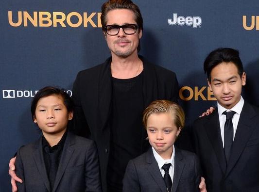 Les premières longues retrouvailles de Brad Pitt  avec ses enfants