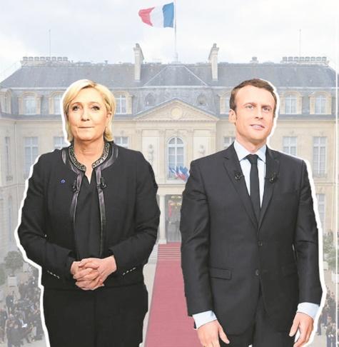 Le Pen vs Macron Pôles contraires