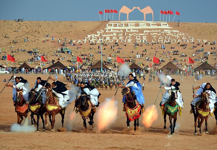 Inauguration du plus long camélodrome d'Afrique au Moussem de Tan Tan