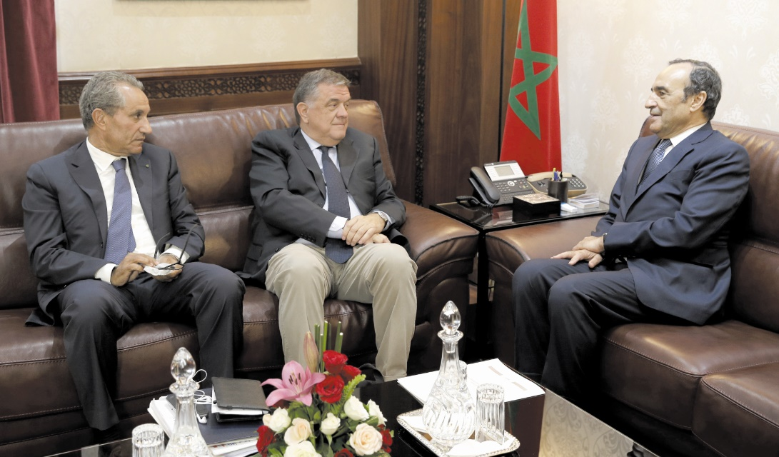 Habib El Malki s'entretient avec le président de la Commission des droits de l'Homme au Parlement européen