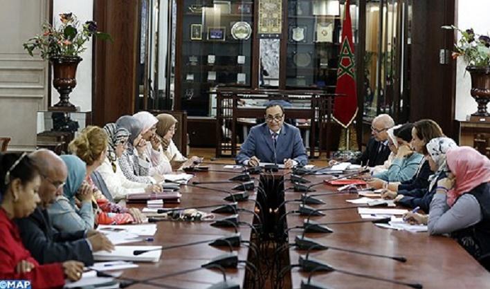 Habib El Malki préside une réunion du Groupe thématique pour la parité et l'égalité