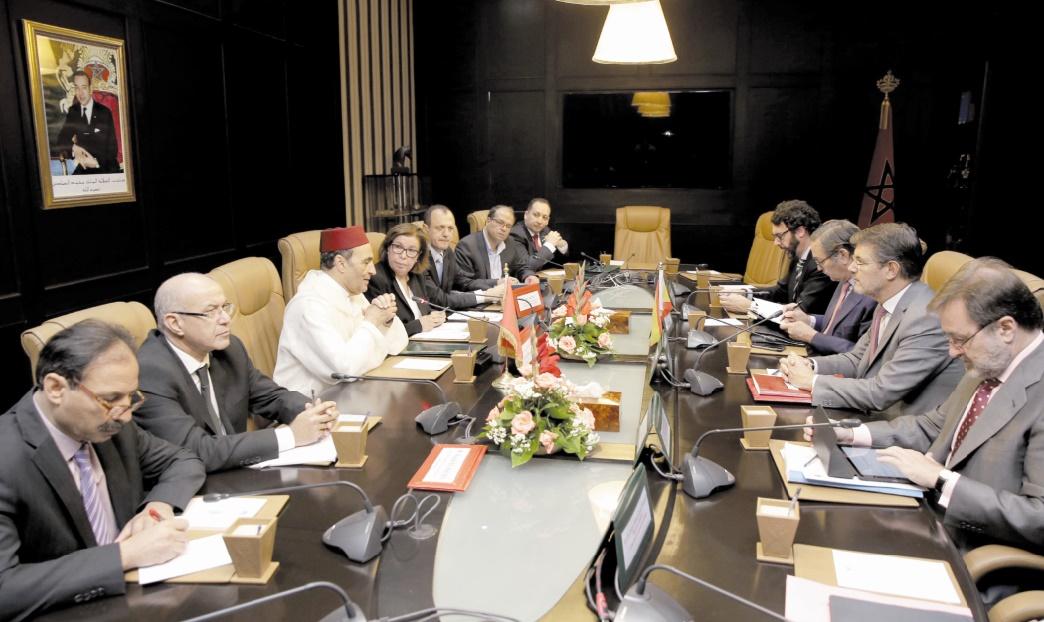 Habib El Malki s'entretient avec le ministre espagnol de la Justice