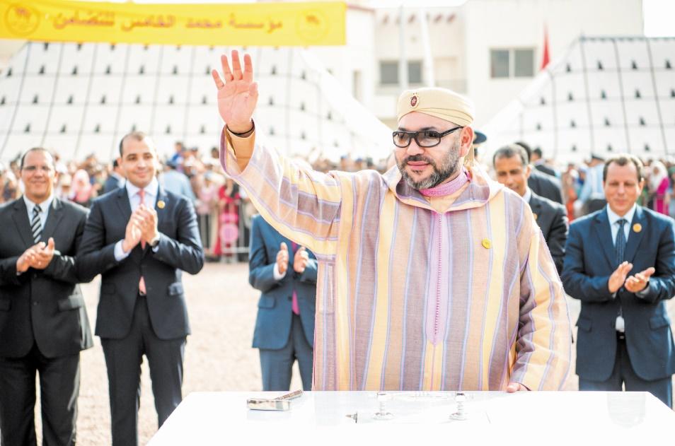 S.M le Roi lance les travaux d'un Centre médico-psycho-social à Tit Mellil