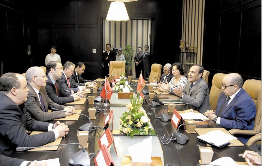 Entretiens fructueux entre Habib El Malki et Youssef Chahed