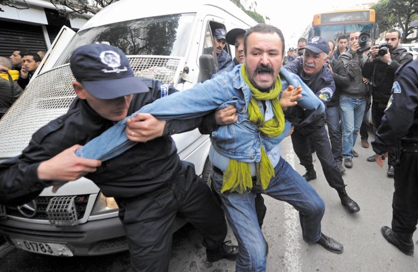 Répression en Algérie, une pratique fréquente.   Ph. Archives