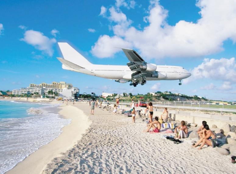Il ne vaut pas mieux aller sur ces plages : Saint Martin, la plage de Maho