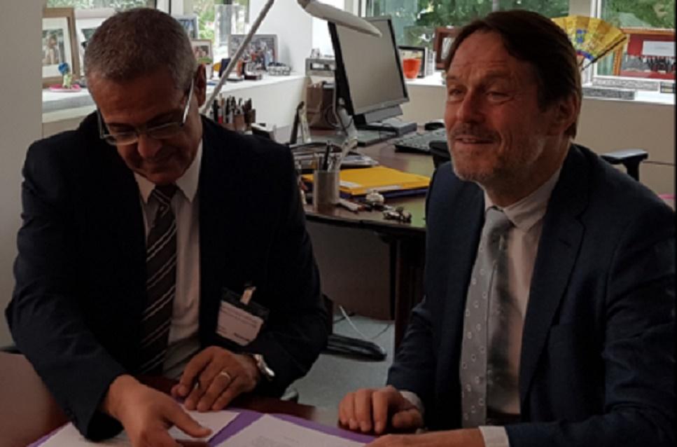 Mohamed Benabdelkader et Rolf Alter.