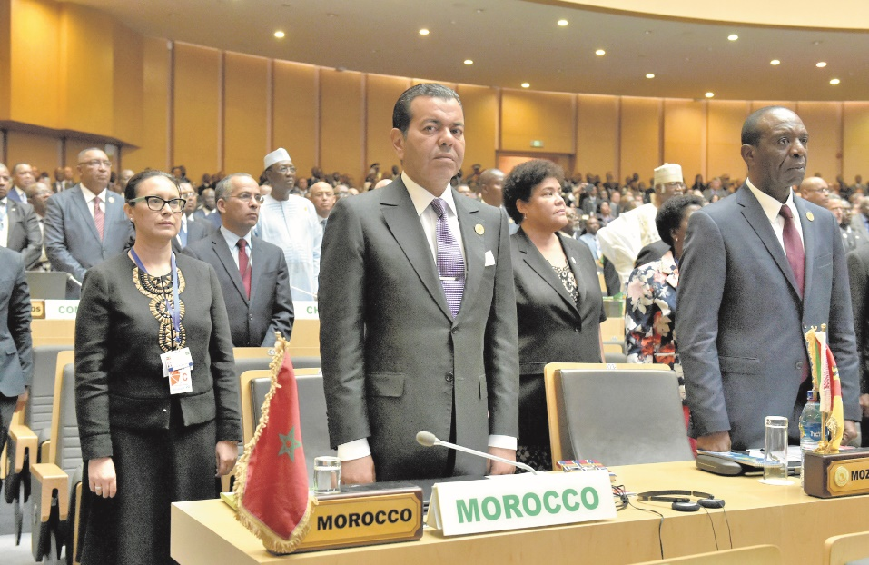 S.A.R le Prince Moulay Rachid représentant le Souverain aux travaux du 29ème Sommet de l'UA.            (Ph: MAP)